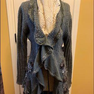 Shabby-Chic Sweater-Coat